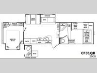Floorplan - 2008 CrossRoads RV Cruiser CF31QB