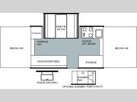Floorplan - 2004 Forest River RV Rockwood 2318 G