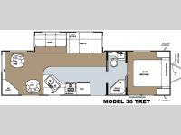 Floorplan - 2008 Gulf Stream RV Canyon Trail Mid Profile 30 TRET