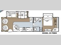 Floorplan - 2008 Gulf Stream RV Canyon Trail Sedona Edition 29 FRBW