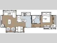 Floorplan - 2008 Gulf Stream RV Yellowstone 36 FTE