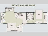 Floorplan - 2007 SunnyBrook Brookside 349 FWSB