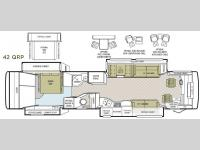 Floorplan - 2008 Tiffin Motorhomes Allegro Bus 42 QRP