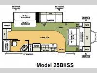 Floorplan - 2008 Forest River RV Flagstaff Super Lite 25BHSS