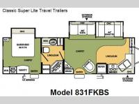 Floorplan - 2008 Forest River RV Flagstaff Classic Super Lite 831FKBS