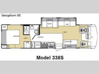 Floorplan - 2007 Forest River RV Georgetown SE 338S