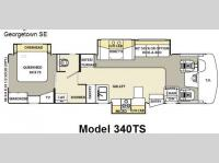 Floorplan - 2007 Forest River RV Georgetown SE 340TS