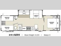 Floorplan - 2009 Coachmen RV Captiva Ultra Lite 291QBS