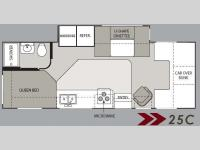 Floorplan - 2008 Four Winds RV Chateau Sport 25C