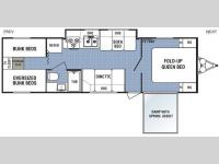 Floorplan - 2008 Dutchmen RV Four Winds Express Lite 29XRV-GS
