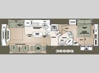 Floorplan - 2008 Carriage Carri-Lite 36SBQ