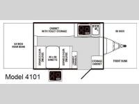 Floorplan - 2008 Palomino Yearling 4101