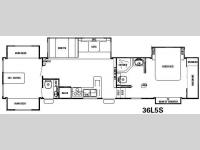 Floorplan - 2008 Forest River RV Cedar Creek Silverback 36L5S