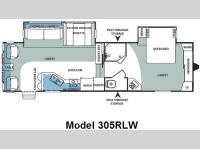 Floorplan - 2008 Forest River RV Sierra 305RLW