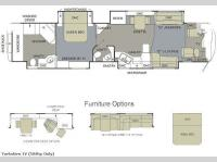 Floorplan - 2009 Monaco Dynasty Yorkshire IV