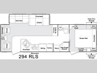 Floorplan - 2005 Keystone RV Cougar 294 RLS