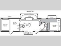Floorplan - 2009 Keystone RV Raptor 3812TS