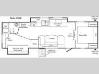 Floorplan - 2009 Keystone RV Passport 300BH