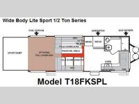Floorplan - 2008 Forest River RV Shockwave Sport T18FKSPL