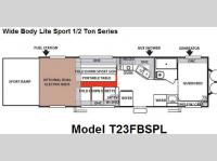 Floorplan - 2008 Forest River RV Sandstorm Wide Body Lite T23FBSPL