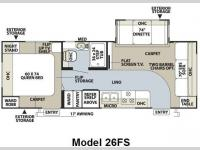 Floorplan - 2009 Forest River RV Flagstaff Super Lite 26FS
