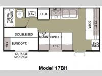 Floorplan - 2009 Forest River RV Cherokee Grey Wolf 17BH