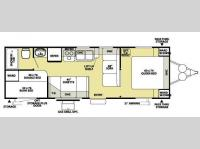 Floorplan - 2008 Forest River RV Salem LE 27BH
