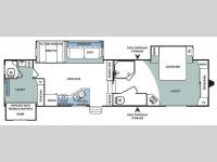 Floorplan - 2009 Forest River RV Sandpiper 316BHT