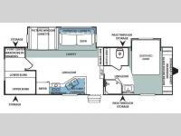 Floorplan - 2008 Forest River RV Sandpiper West 295BHBS