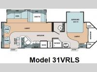 Floorplan - 2009 Forest River RV V-Cross 31VRLS