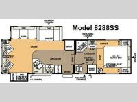 Floorplan - 2008 Forest River RV Rockwood Signature Ultra Lite 8288SS