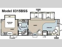 Floorplan - 2008 Forest River RV Rockwood Signature Ultra Lite 8315BSS