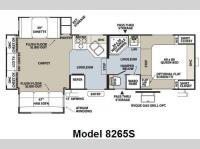 Floorplan - 2009 Forest River RV Rockwood Signature Ultra Lite 8265S
