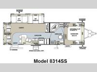Floorplan - 2009 Forest River RV Rockwood Signature Ultra Lite 8314SS