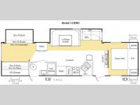 Floorplan - 2009 Keystone RV Sprinter 311BHS