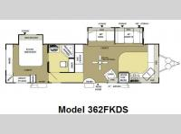 Floorplan - 2009 Forest River RV Wildwood XL 362FKDS