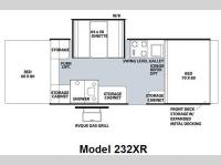 Floorplan - 2009 Forest River RV Rockwood Freedom LTD Series 232XR
