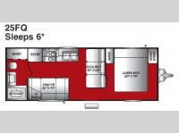 Floorplan - 2007 Fleetwood RV Pioneer 25FQ
