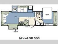 Floorplan - 2009 Forest River RV Wildcat 30LSBS