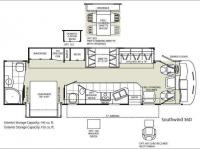 Floorplan - 2009 Fleetwood RV Southwind 36D