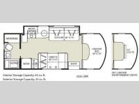 Floorplan - 2009 Fleetwood RV Icon 24A