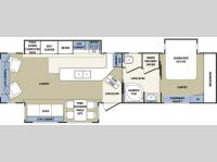 Floorplan - 2005 Forest River RV Cardinal 34 RLT