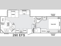 Floorplan - 2005 Keystone RV Cougar 290 EFS
