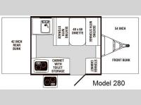 Floorplan - 2009 Palomino P-Series 280