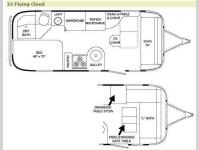 Floorplan - 2009 Airstream RV Flying Cloud 23