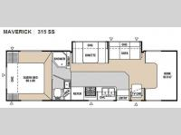 Floorplan - 2008 Georgie Boy Maverick 315 SS