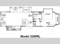 Floorplan - 2009 Forest River RV Cedar Creek Silverback 32WRL