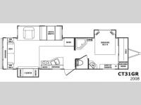 Floorplan - 2009 CrossRoads RV Cruiser CT31GR