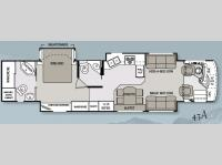 Floorplan - 2009 Mandalay Luxury Division Mandalay Class A 43A