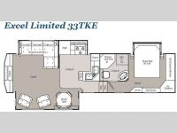 Floorplan - 2009 Peterson Excel Limited 33TKE